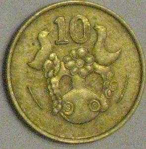 Кипр 10 центов 1991