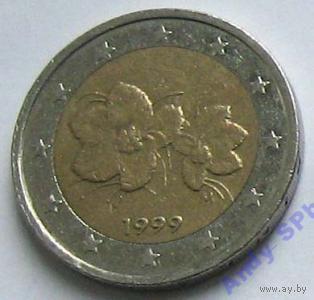 Финляндия 2 ЕВРО 1999 год Первый год выпуска.  распродажа