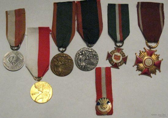 7 шт. польских наград