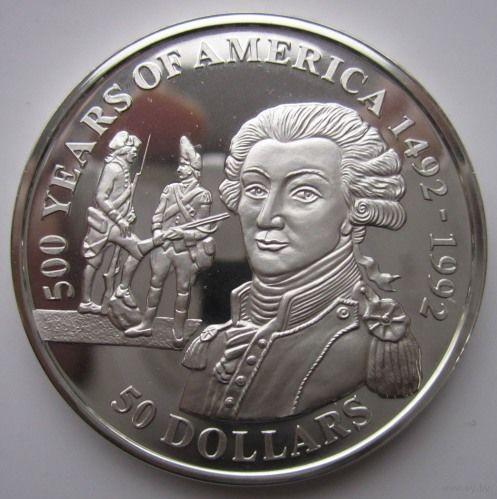 Острова Кука. 50 долларов 1991. Серебро. Пруф. 181