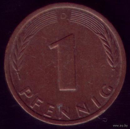 1 пфенниг 1984 год ФРГ D