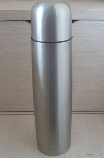 Термос 1 литр (Чехия) . Нержавеющая сталь. Новый. Недорого!