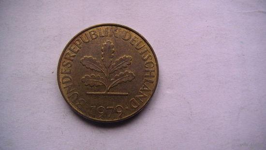 10 пфенингов фрг 1979г (J)   распродажа