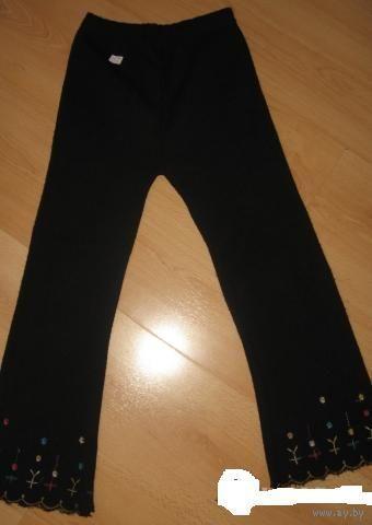 Трикотажные брюки  (можно для школы) 6-7 лет