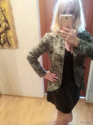 Куртка пиджак кардиган камуфляж  р. 50-52 Италия