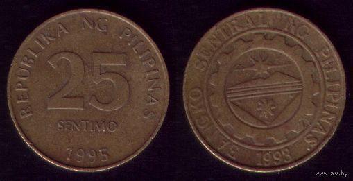 25 сентимо 1995 год Филиппины