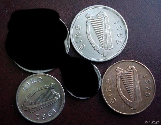 Ирландия. 3 монеты 1979-1990 г.