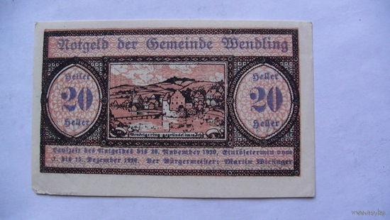 Австрия Нотгельды 20 геллер 1920г No27 распродажа