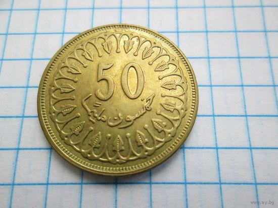 Тунис 50 миллимов 1997 года