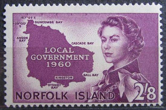 Британские колонии. Остров Норфолк 1960. Лот 5