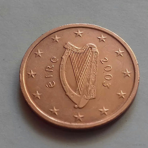 1 евроцент, Ирландия 2003 г., AU