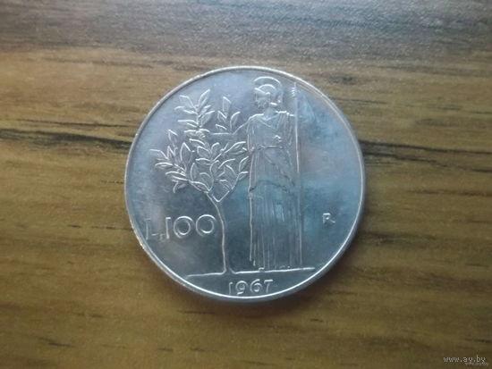 Италия 100 лир 1967