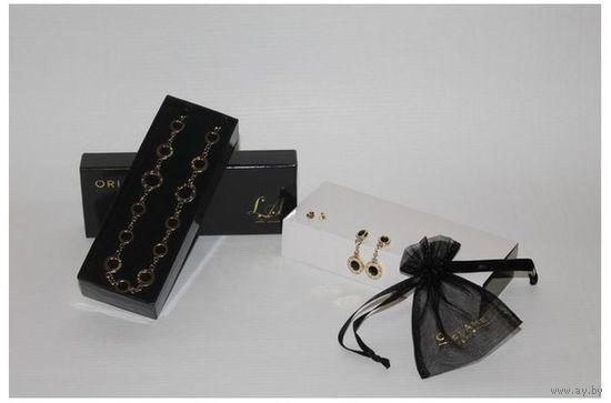 """Ожерелье и серьги """"Золотая грация"""" с кристаллами SWAROVSK!!!"""