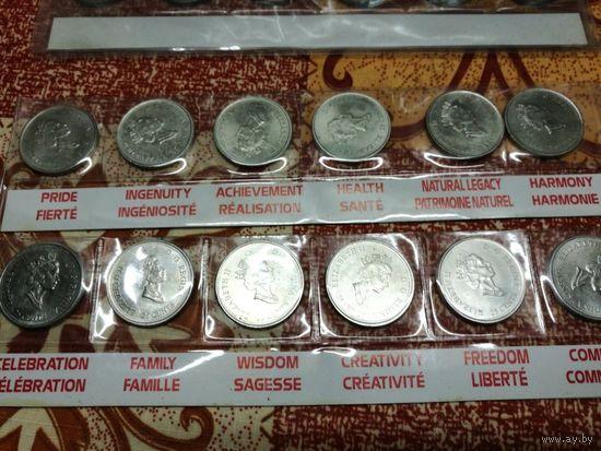 """25 центов (квотер) Канада 2000 набор """"Миллениум"""""""