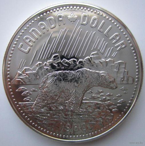 Канада. 1 доллар 1980. Серебро. 390