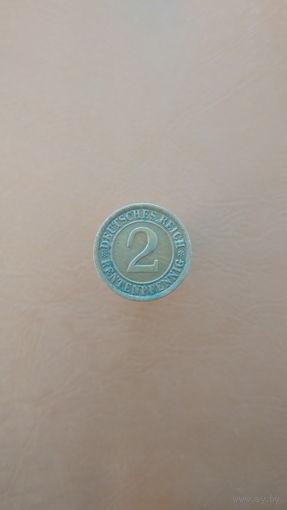 Германия / 2 rentenpfennig (A) / 1924 год