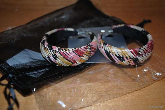 """Серги _""""Гана""""_фирма орифлэйм_украшены плетением из цветной соломки!"""