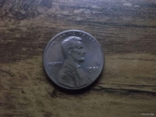 США 1 cent 1985
