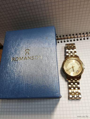 """Часы """"Romanson"""" оригинал с родным оригинальным браслетом сапфировое стекло с 1 рубля (распродажа) 3 дня!!!"""