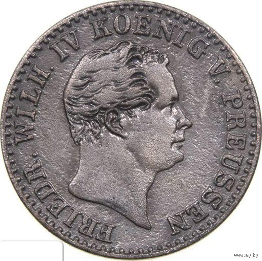 """РАСПРОДАЖА!!! - ПРУССИЯ 2 1/2 гроша 1843 год """"ФРИДРИХ ВИЛЬГЕЛЬМ IV"""" (серебро)"""