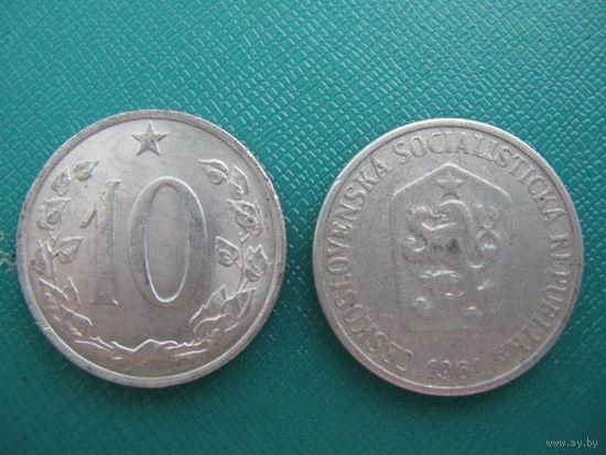 Чехословакия  10 геллер   1961