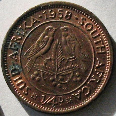 Южная Африка, 1/4 пенни (фартинг) 1958