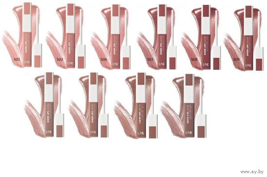 БЛЕСК для губ Bourjois UNE Sheer Lips Gloss 5 оттенков