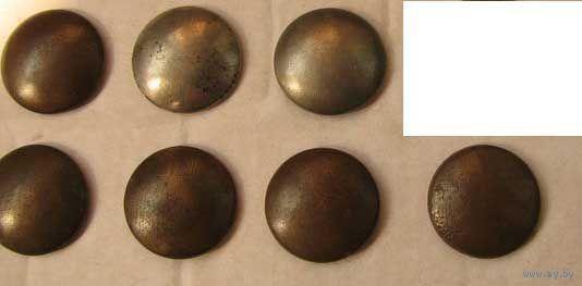 Пуговицы офицерские мундирные гладкие (медные и посеребренные) (Германская армия периода Первой Мировой войны)