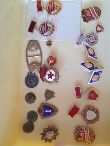 Значки, медали ВДНХ, печати, пуговицы и т.д. Сборный лот. 30шт без МЦ.