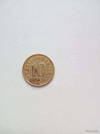 10 центов 1992г. Эстония.