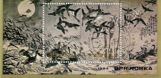 Живопись. КНДР 1984 г. (Корея) Серия + блок