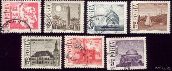 7 марок 1966 год Польша Туризм