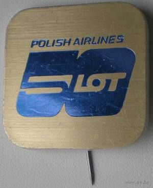 "Значок-булавка ""Polish Airlines. LOT 50 лет"""