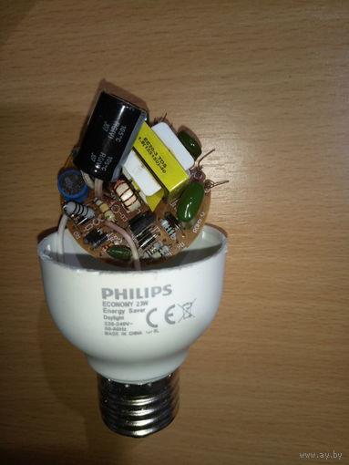 Плата управления от энергосберегающей лампочки