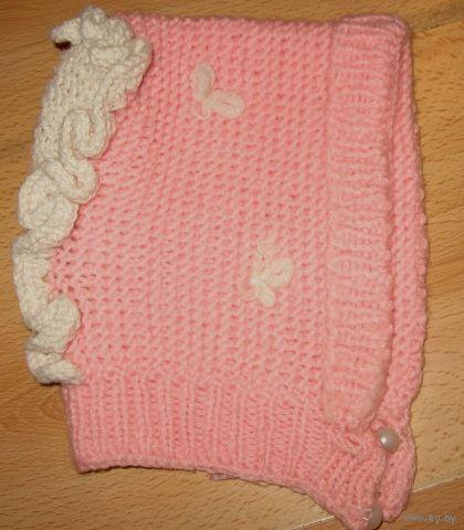 Розовая шапочка до 1 года