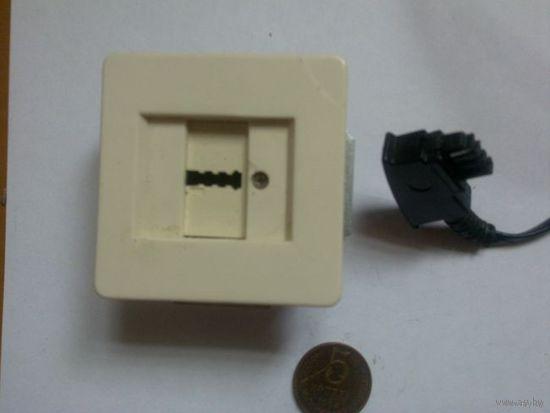 Розетка для факса с кабелем