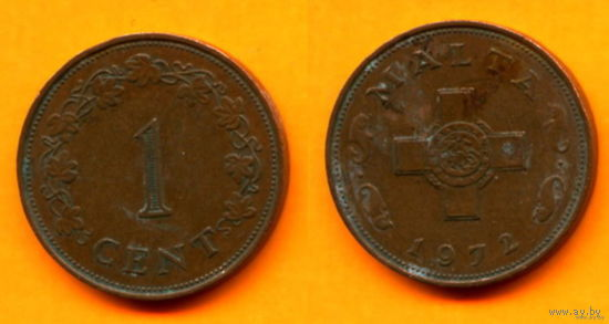 Мальта 1 ЦЕНТ 1972г.  распродажа 1