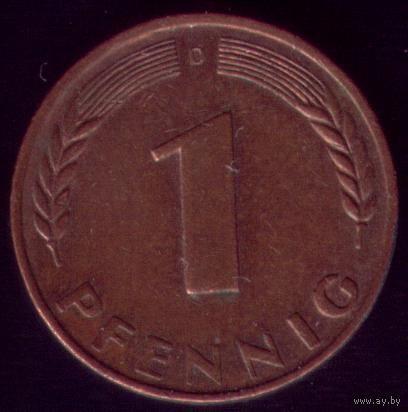 1 пфенниг 1950 год ФРГ D