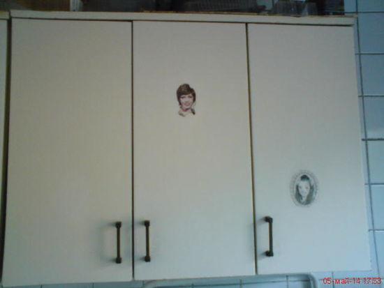 Шкаф кухонный трехдверный подвесной СССР