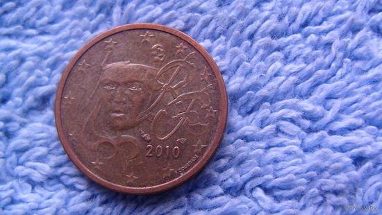 Франция, 2 евро цента, 2010 г.  распродажа