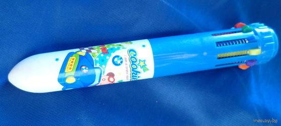 Ручка шариковая--10 цветов