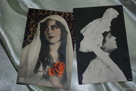 Открытки в коллекцию., - зап.Европа., - две почтовые карточки до 1917 года., - прошли почту!
