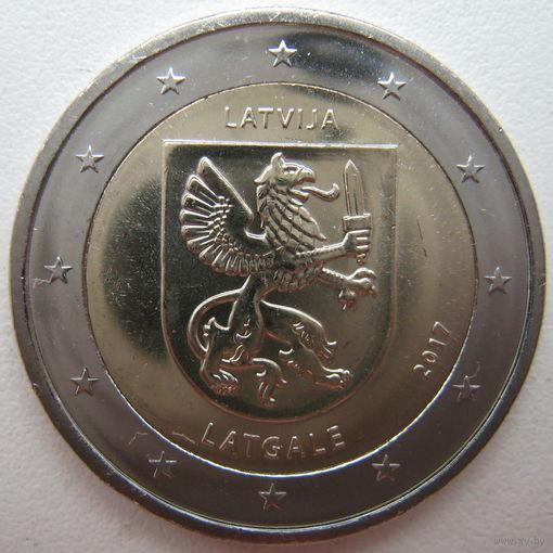 Латвия 2 евро 2017 г. Исторические области Латвии. Латгалия