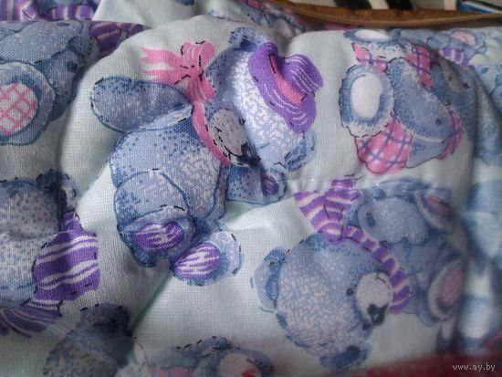 Новое одеяло 140*110 и пододеяльник ажурный к нему