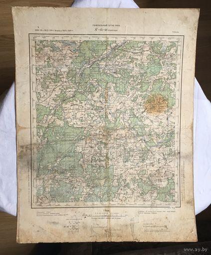 Карта Подбродзе РККА 1936 год
