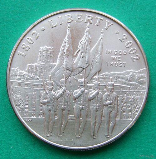 1 доллар 2002W West point.