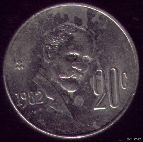 20 сентаво 1982 год Мексика