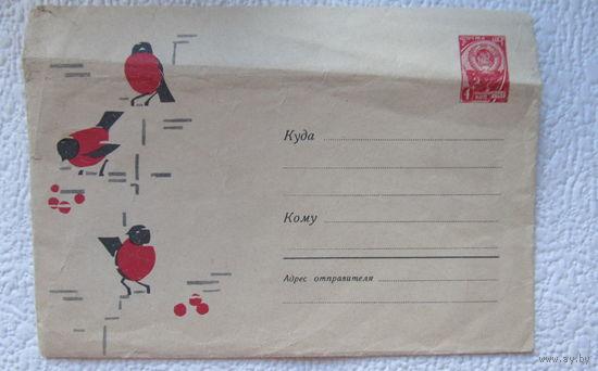 """Конверт """"Снегири"""" ,1965г.,худ.И.Н.Козлов-No 3"""