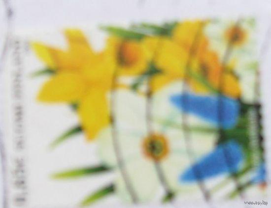 Марка Финляндии-Цветы