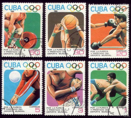 6 марок 1984 год Куба Олимпиада